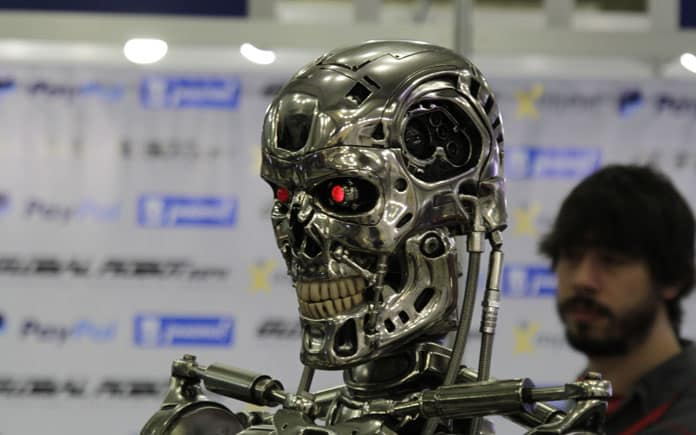 Un Terminator con cara de pocos amigos. Juan F. Calero