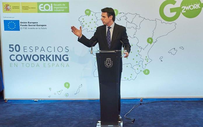 Plan de Espacios Coworking y Empleo Joven, Jose Manuel Soria, ministro de Industria, Energía y Turismo