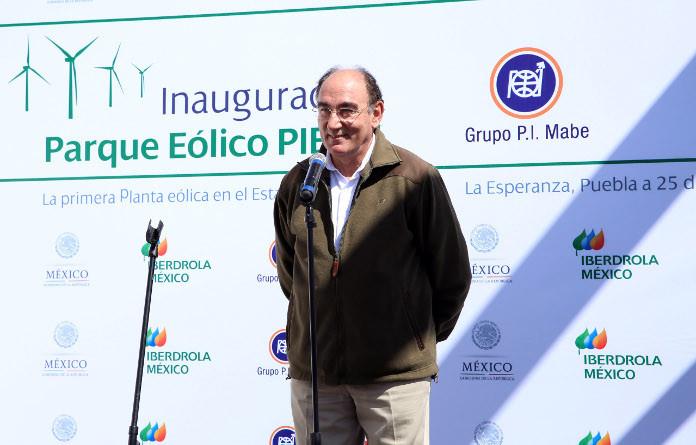 El presidente de Iberdrola, Ignacio Sánchez Galán, inaugura el parque eólico mexicano Pier II