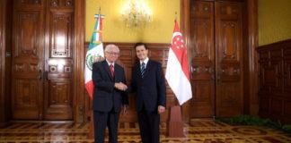 El presidente de Singapur, Tony Tan Keng Yam, y el presidente de México, Enrique Peña Nieto