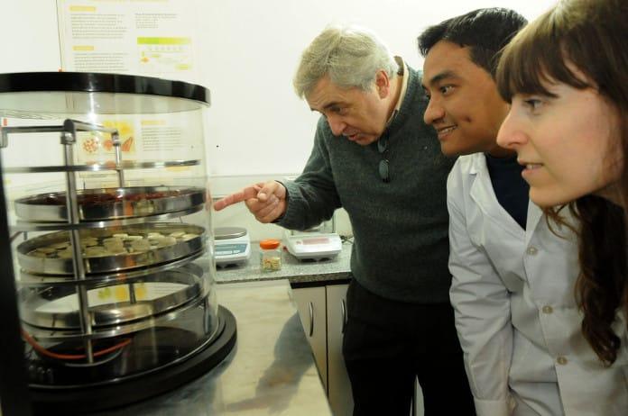 Equipo de investigadores y especialistas de la UNLP que trabajan en la planta de guisos deshidratados