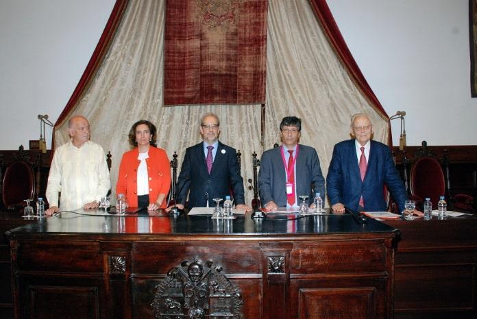 Manuel Alcántara, María Josefa García Cirac, Daniel Hernández Ruipérez, Carlos Quenan y Alain Touraine