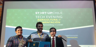 Los responsables de VACuCh, ganadores del Tech Evening de Start Up Chile