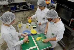 Los estudiantes utilizaron leche y jugo de mango y de banano (foto: Laura Rodríguez).