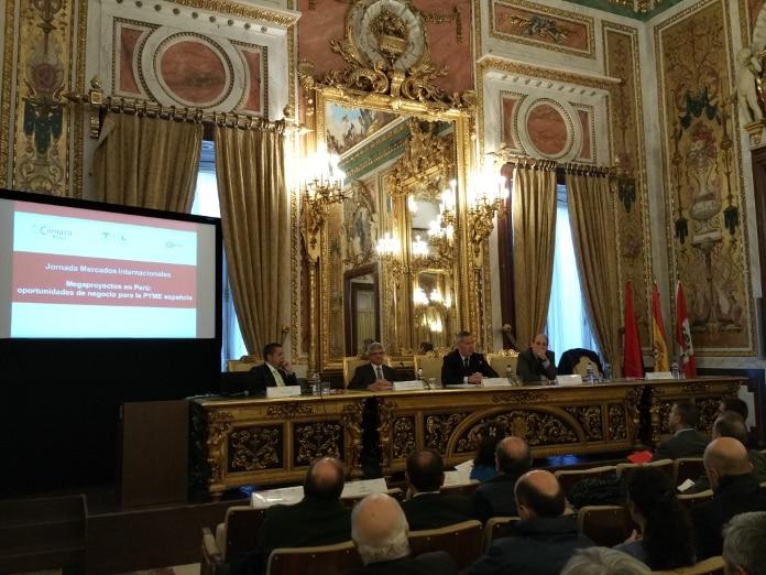 Jornada 'Megaproyectos en Perú' organizada por la Cámara de Comercio de Madrid