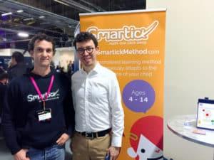 El cofundador de Smartick, Javier Arroyo, con Louis von Ahn, fundador de Duolingo