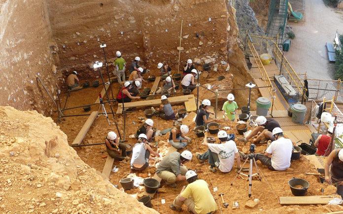 Gran Dolina.Autor Fundación Atapuerca