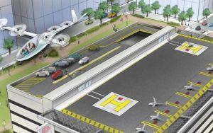 Simulación de coches voladores presentada ayer por uber