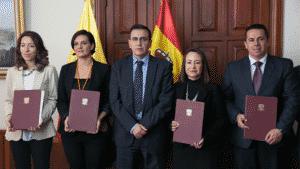 Firma de los acuerdos de colaboración entre España y Ecuador