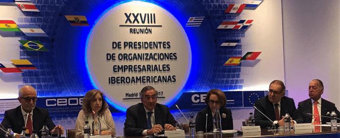 Reunión de presidente de organizaciones empresariales iberoamericanas