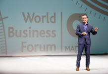 Intervención de Jesús Cochegrus en el World Business Forum 2017 (WOBI), en Madrid