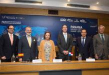 Participantes en la reunión celebrada en CEOE con el ministro de Comercio e Industrias de Panamá, Augusto Arosemena (Foto CEOE)