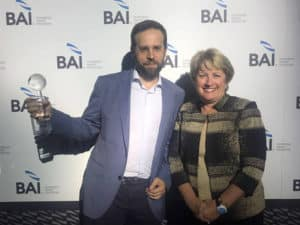 Entrega del premio BAI Global Innovation Awards a Finnovating