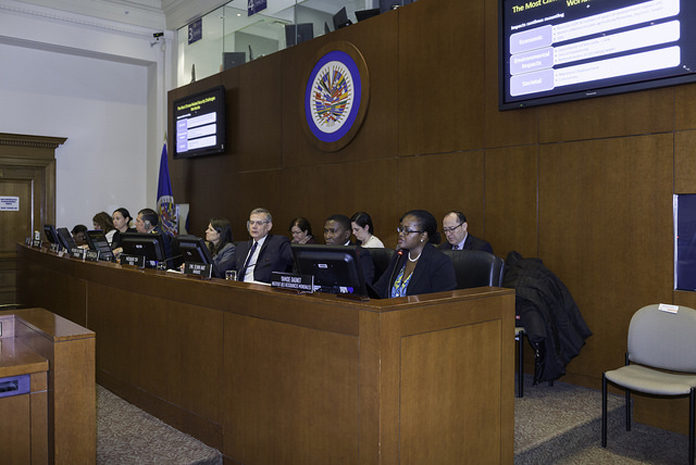 Reunión conjunta del Consejo Permanente de la Organización de los Estados Americanos (OEA) y su Comisión de Seguridad Hemisférica (Foto de OEA)