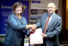 Jolita Butkeviciene, directora para América Latina y el Caribe de la Comisión Europea junto al director de la AECID, Luis Tejada