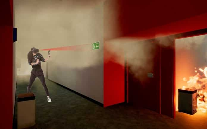 realidad virtual incendio