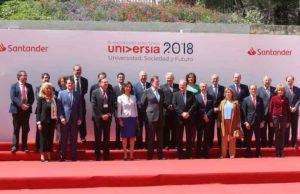 Foto de familia de los participantes en la clausura de Universia 2018 (Foto de USAL).