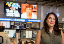 Inger Díaz Barriga en la redacción de Univision Noticias en Miami (Foto de David Maris)