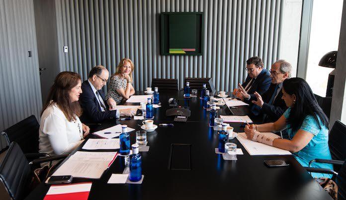 Primera reunión del Patronato de la Fundación Consejo España-Perú, en la sede de BBVA en Madrid
