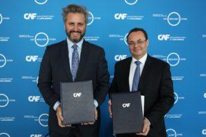 Firma del convenio entre CAF y el programa 100 Resilient Cities