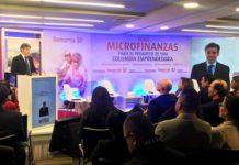 El director general de la FMBBVA, Javier M. Flores, durante el acto de celebración del décimo aniversario de Bancamía