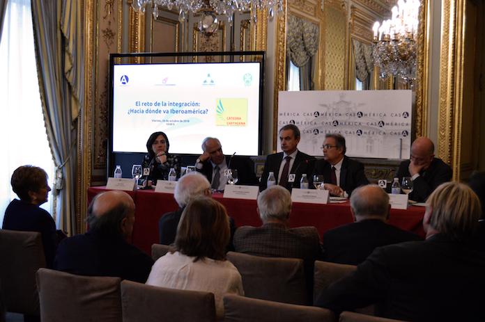 Presentación de la Cátedra Cartagena en Casa de América (Madrid).