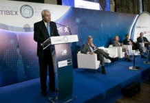 Antonio Zoido, presidente de BME, en la inauguración del Foro Latibex.