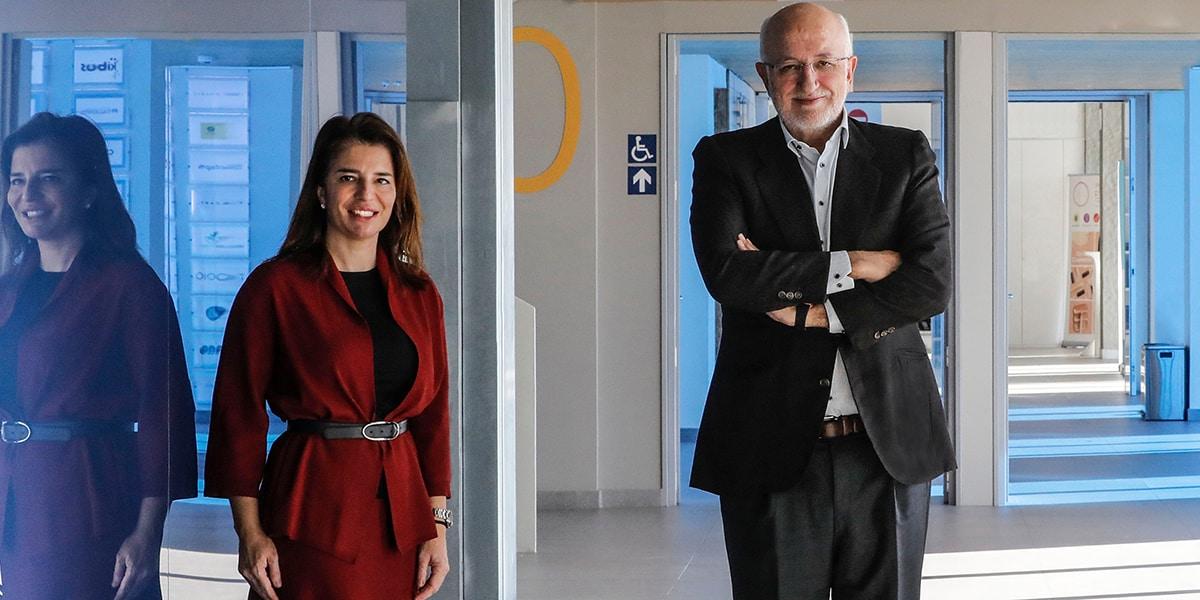 Hortensia Roig y Juan Roig, en la presentación del programa Superpymes Xpress de EDEM Escuela de Empresarios.