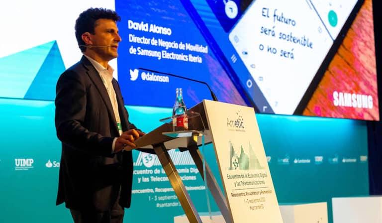 David Alonso, Director de Negocio de Samsung Iberia, en el Encuentro de la Economía Digital y las Telecomunicaciones de Santander.